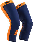 Thor Adult MX ATV Compression Knee Orange/Blue Sleeves (Pair) L-3XL
