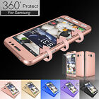 360° Full Body Protector Case Cover +Tempered Glass for Samsung Galaxy Sky J3 V