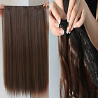 """One Piece 5 Clips in Human Hair Extensions Straight 100% Real Hair 16""""-24"""" 100g"""