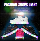 LED With battery Kid Boys Girls LED Light Up Sports Sneakers Baby Shoes Button