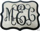 Embroidered Vine Font Initial Monogram Iron- On Patch Michael Miller Fairy Frost
