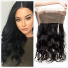 360 Lace Band Frontal Closure with Baby Hair Brazilian Body Wave 22.5*4*2