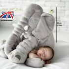 60cm Long Nose Elephant Doll Pillow Soft Plush Stuff Toy Lumbar Pillow For Baby