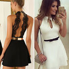 CH New Fashion Women Summer Lace Evening Party Casual Cocktail Short Mini Dress