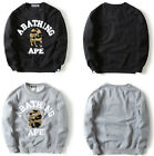 New Mens Popular Sweatshirt Bape Ape Shark Camo Pullover Sweater Outwear Shirt