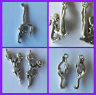 Gymnastics, Cheer leaders, Ice skating pewter hook earrings