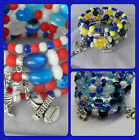Sydney Roosters, Bulldogs, Cowboys multi strand wire Rugby League fan bracelet