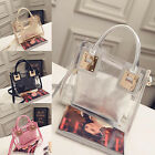 CHIC 2Pcs Women Jelly Shell Bag Shoulder Handbag Transparent Messenger Bag New