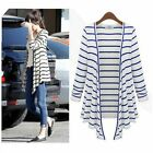 Women Summer Black-white stripe Air-condition Blouses long-sleeved cardigan