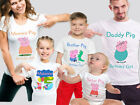 Peppa Pig Family Birthday T-shirts, Mommy Pig, Daddy Pig, Brother Pig, Any Name!