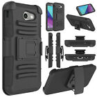 For Samsung Galaxy J3 Emerge/Prime/Luna Pro Shockproof Case With Kickstand Clip