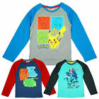 Boys Official Pokemon Greninja Pikachu Frogadier Long Sleeve Top 4 to 12 Years