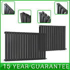 Anthracite Horizontal Designer Column Radiator Modern Bathroom Central Heating
