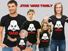 Darth Vader Star Wars Birthday Family T-shirts. Star Wars Family Tops. USA Selle
