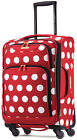 "American Tourister Disney Softside 21"" Spinner Carry On Luggage - Minnie P Dot"