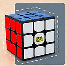 YanCheng YAN3 56mm 3x3x3 SPEEDCUBE in Black, Primary, Stickerless, White