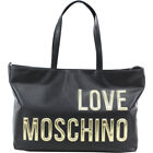 Love Moschino Women's Raised Letter Logo Pebbled Tote Handbag