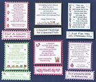 6 MOTHERS DAY Greeting Card Craft Verse Toppers W/WO Matching Sentiment Banners