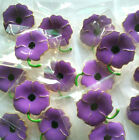 Bulk Purple Flower Badge Poppy Brooches For Charity Jewelry Remembrance Gifts