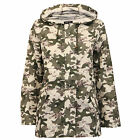 Ladies Kagool Jacket Brave Soul Womens Coat Camouflage Military Hooded Fish Tail