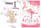 To A Wonderful Niece Happy 1st Birthday Card - Good Quality Lovley Verse