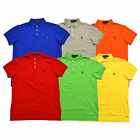 Polo Ralph Lauren Shirt Mens Polo Pima Stretch Mesh 3 Button Pony Logo Knit New
