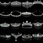 Bridal Wedding Crystal Flower Tiara Crown Pearl Rhinestone Hair Band Headband N