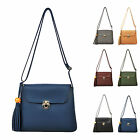 New Ladies Shoulder Handbag Womens Cross Body Bag Faux Leather Hobo Bag Purse