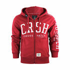 Crosshatch Gator Zip Up Graphic Hoodie - Pomegranite