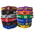 Lot Silicon Bracelet Basketball Teams CLEVELAND NBA SPURS adjustable Wristband