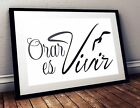 Orar es vivir spanish christian quote poster print home decor frase español P55