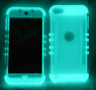 GLOW IN THE DARK Clear Impact Shockproof Armor Hybrid Case Cover for Cell Phones