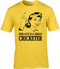 Cricketer Mens T-Shirt Gift Idea Occupation Sport Cricket Test Match T20 One Day