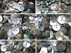 10mm 12 15mm 18mm 20mm 23mm 28mm Pearlescent Ivory Shell Agoya Natural Buttons