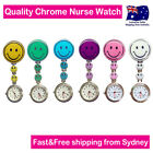 NURSE WATCH SMILEY FACE WATCH QUARTZ MOVEMENT for PICK POUCH+CLIP+FREE BATTERY