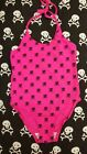 Phoenixx Rising Pink Kitty Cat Skull Crossbones Kids Girls Swimming Suit Costume