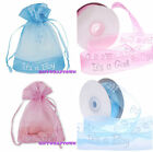 It's a Girl/Boy Organza Pouches Party Bags and matching ribbons!  New Baby