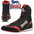 Lonsdale Mitchum Boxing Boots Black/Red Trainers Shoes Classic Sportswear