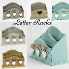 Vintage Style Wooden Letter Post Stand Racks Holder Storage Decoration