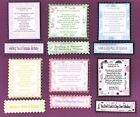 6 Especially For Ladies Birthday Verse Toppers W/WO Matching Sentiment Banners