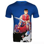 Mens Blue World Soldiers Designer Tee Shirt Limited Edition