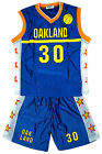 Boys OAKLAND Basketball Sports Vest Top & Shorts Outfit Set 4 to 14 Years