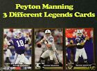 PEYTON MANNING _ 3 Different LEGENDS Cards _ Choose 1 or More _ In a Toploader
