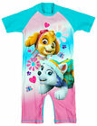 Girls Paw Patrol Skye & Everest All in One Sunsafe Surf Swimsuit 1.5 to 5 Years