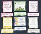 6 EASTER Greeting Card Craft Verse Toppers W/WO Matching Sentiment Banners
