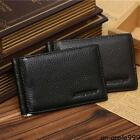 Men Genuine Leather Wallet with Money Clip Bifold Black Purse #A Male Practical