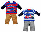 Boys Mini Mods Scooter Long Sleeve Top Trousers Set 9 - 24 Months CLEARANCE SALE