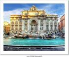 Trevi Fountain, Rome, Italy. Art Print/Canvas Home Decor Wall Art Poster - C