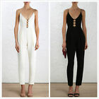 Zimmermann CREPE Link Jumpsuit in white or Black $495  new V-NECK