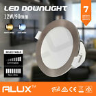 SATIN FRAME 10 x 12W LED DOWNLIGHT KIT WARM & COOL WHITE DIMMABLE & NON DIM IC-F